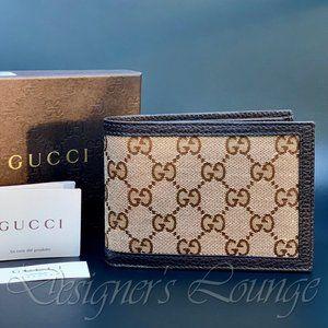 NIB GUCCI GG Guccissima Canvas Bi-Fold Wallet
